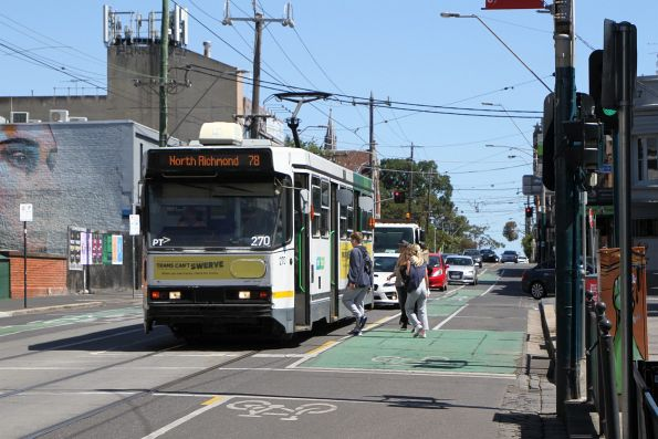 A2.270 heads north on route 78 along Chapel Street at Windsor station