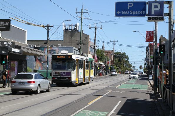 A2.272 heads south on route 78 along Chapel Street at Windsor station