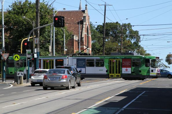 B2.2040 heads east on route 64 at Dandenong Road and Chapel Street