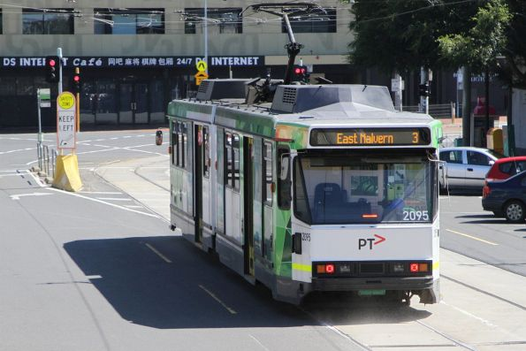 B2.2095 on a route 3 service at Caulfield station