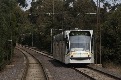 D2.5018 heads north on route 96 near Albert Park