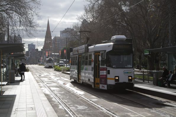 Z3.194 heads south along St Kilda Road on a route 1 service at the Arts Centre