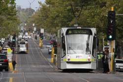 D1.3528 heads north on route 16 at St Kilda Road and Toorak Road