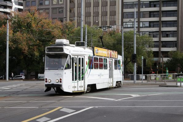 Z1.71 turns into Park Street on a route 8 service at Domain Interchange