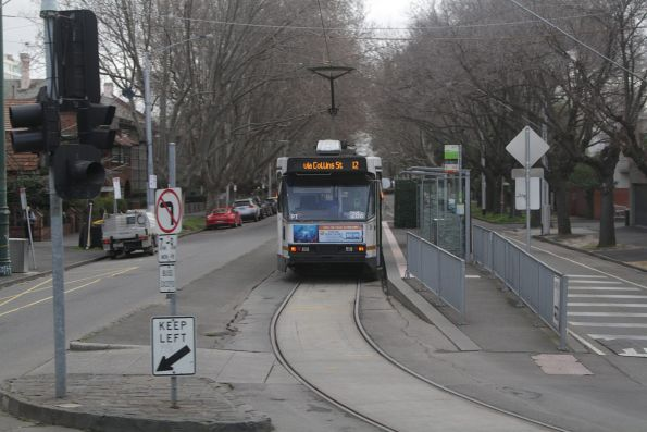 A2.286 awaiting departure time from the route 12 terminus at St Kilda