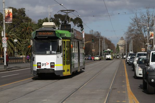 Z3.196 heads south on route 1 at Princes Bridge