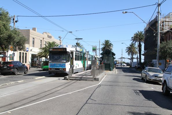 B2.2104 waits at the route 1 terminus in South Melbourne