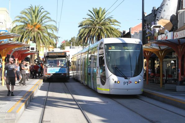 C2.5106 waits at the route 96 terminus in St Kilda
