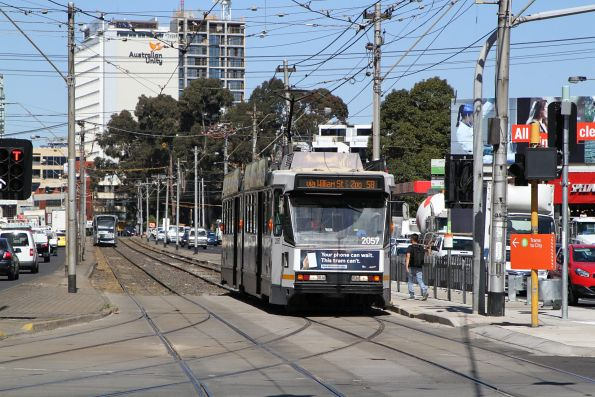 B2.2057 heads north on route 58 at Kings Way and Sturt Street
