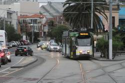 Z3.168 westbound on route 16 at The Esplanade and Acland Street