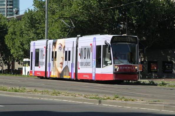 D1.3506 advertising 'Rimmel' heads north on route 72 past the Arts Centre