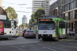 B2.2006 and B2.2116 pass on route 1 at Sturt Street and Southbank Boulevard