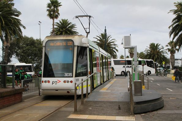 C.3035 at the route 109 terminus at Port Melbourne