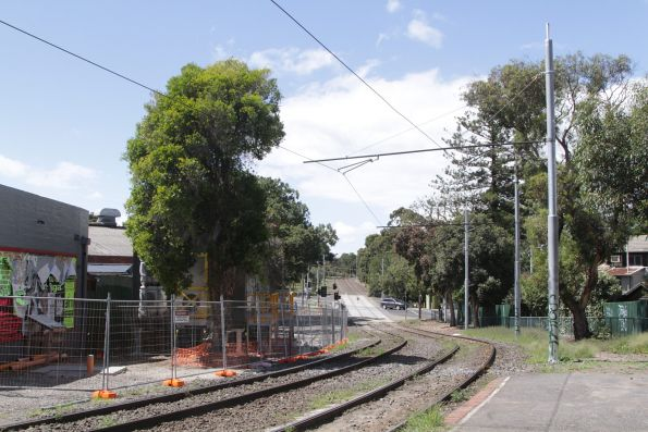 Renewed overhead wiring on route 55 between Brunswick Road and Park Street