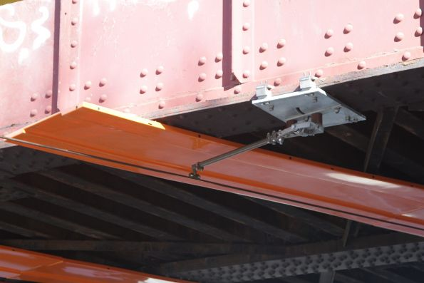 New design of fibreglass insulated trunking installed beneath the Racecourse Road bridge on route 57 at Newmarket station