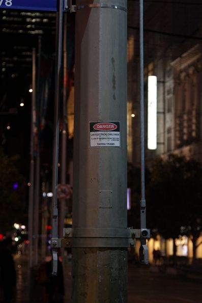 Isolation switches for overhead power at Bourke and Swanston Street