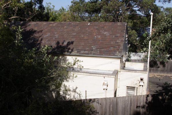 Substation 'D' at Deepdene, note the slate roof on the original building