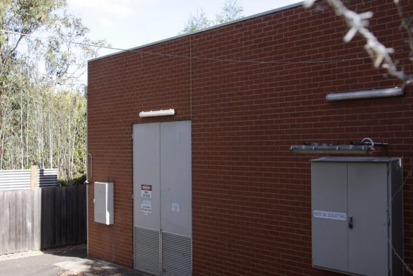 Substation 'D' at Deepdene, the 2000s brick replacement at the rear