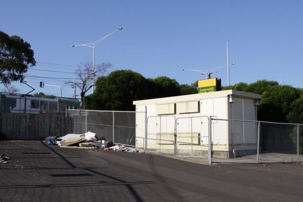 Substation 'Rv' on Plenty Road, near the end of the light rail section in Reservoir