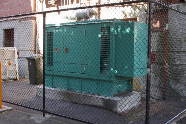 Substation 'C' and the emergency genset outside the building