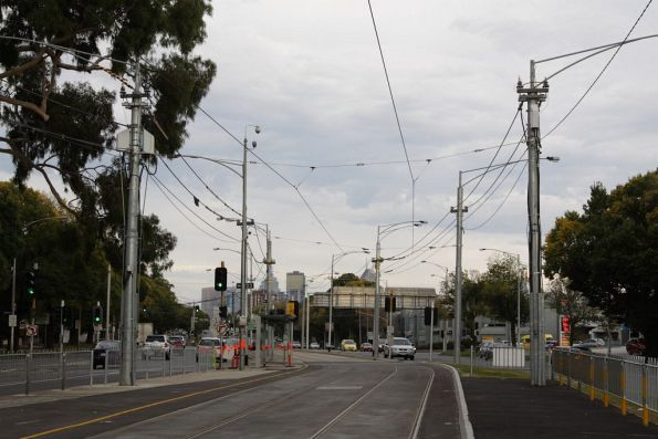 Substation 'Rp' traction feeders on Flemington Road