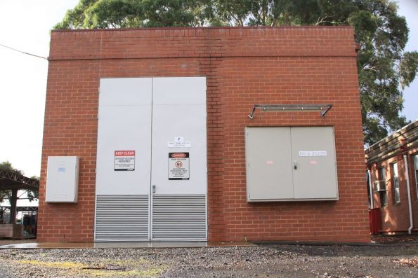 Substation 'P', the modern replacement located elsewhere in the Preston Workshops