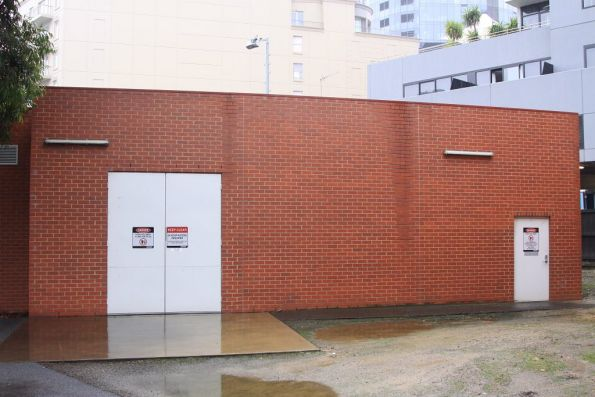 Substation 'Sy' on Daly Street, South Yarra. This current facility is located behind the original MMTB building