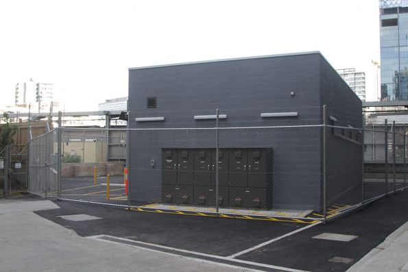 New tramway traction substation 'ZD' between Media House and Southern Cross platform 8 south