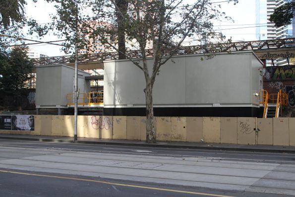 Flinders Street tram substation still to be completed