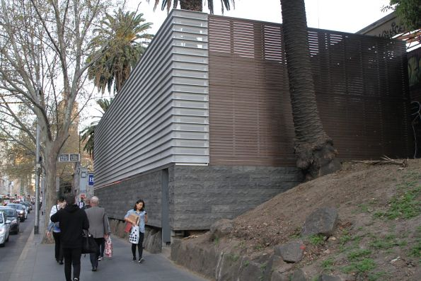 External cladding in place around the Flinders Street tram substation