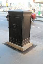Reproduction MMTB cable junction box at Flinders and Swanston Street