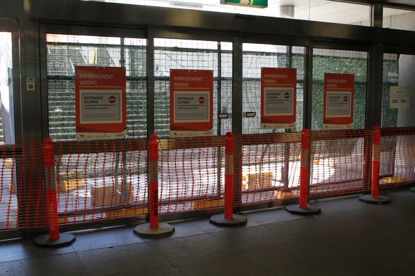Macarthur Street exit at Parliament station closed for works