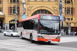 Melbourne City Tourist Shuttle bus #78 6678AO at Swanston and Flinders Street