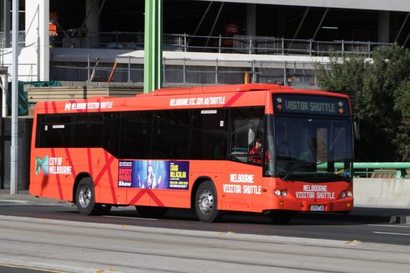 Melbourne Visitor Shuttle bus 1059AO headed for Docklands at La Trobe Street