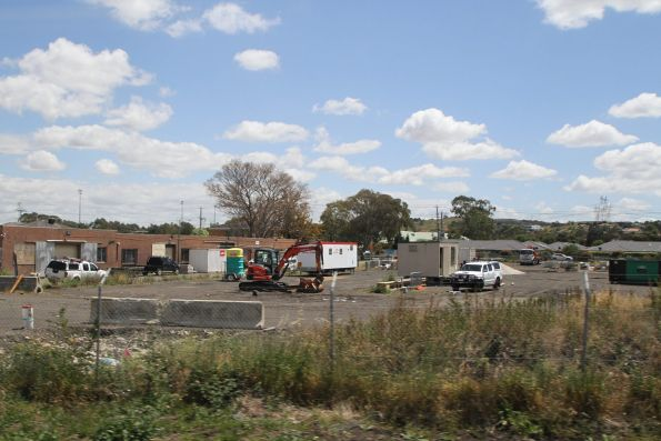 John Holland site compound at the up end of South Morang station