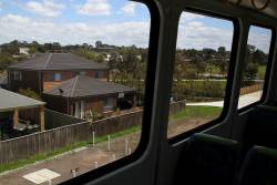 Looking out from the train north of Hawkstowe station