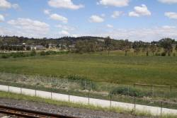 Looking out from the train south of Mernda station