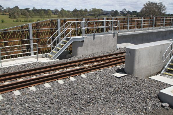 Start of the U trough bridge at Mernda station