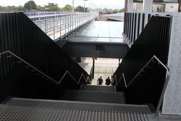 Steps at the northern entrance to Mernda station