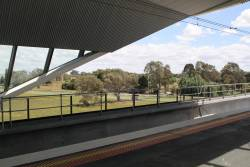 Looking out from the elevated platform at Mernda station