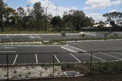 Little used south-western car park at Middle Gorge station