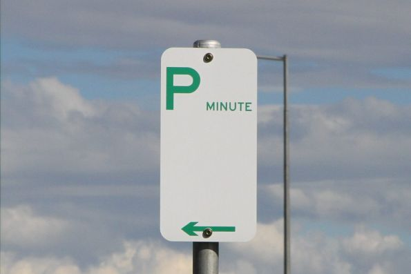 'Minute' parking at Hawkstowe station