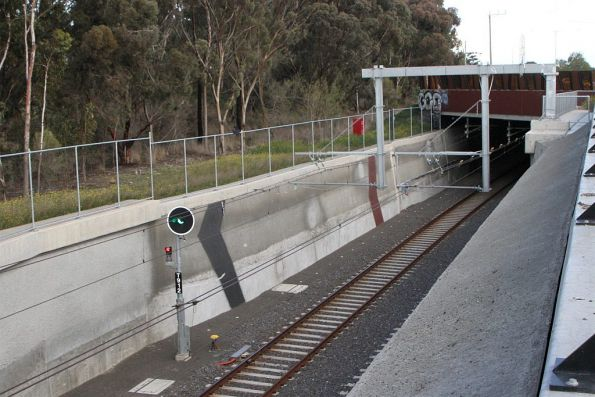 Northern portal of the Plenty Road tunnel