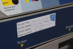 Metcard machine, the sticker says 'Removal date: 17/4/2012'