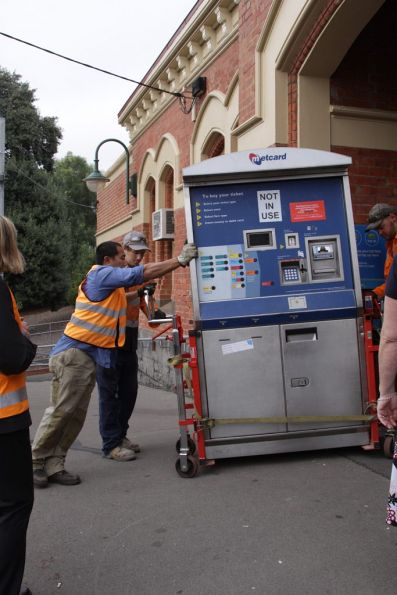 Out comes the Metcard machine at Ascot Vale