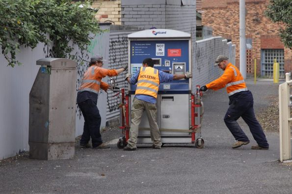 It's a three man job to move the Metcard machine