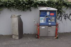 Metcard machines abandoned on the footpath