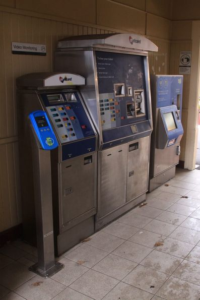 Metcard machines awaiting removal at Murrumbeena