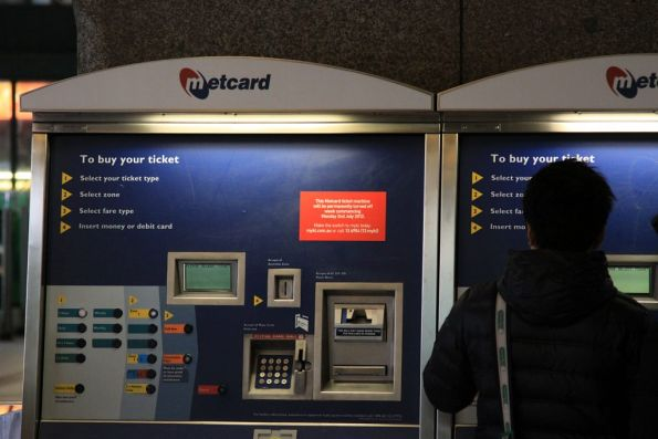 Removal date of July 2nd set for the final Metcard machines at Flinders Street Station