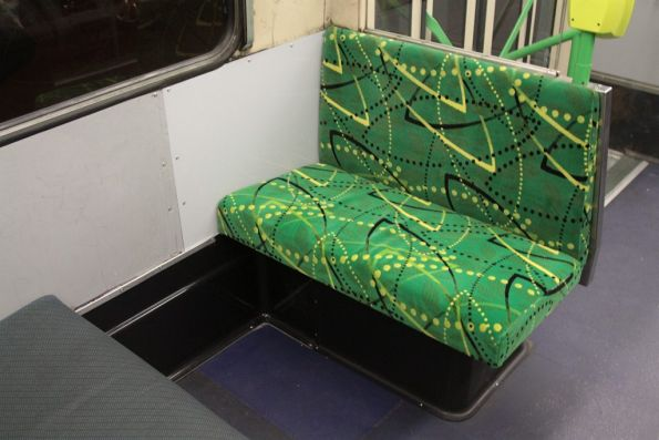 New seat, plus patched up wall and floor where the Metcard machine used to be on a Z3 class tram